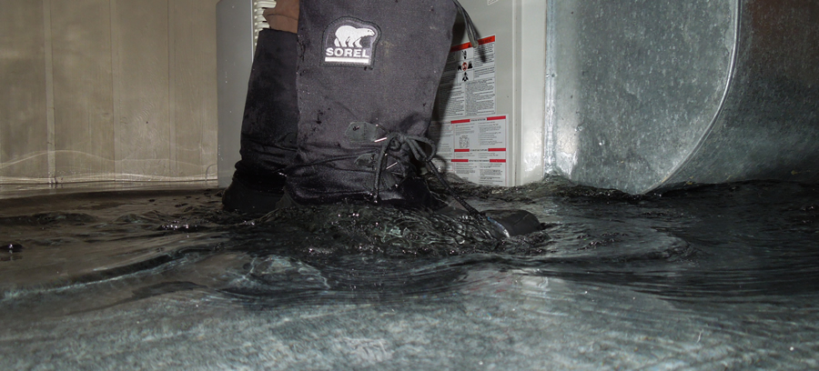 basement water leak water up to boots